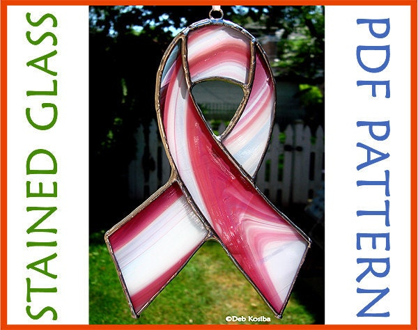 awareness ribbon easy stained glass pattern by