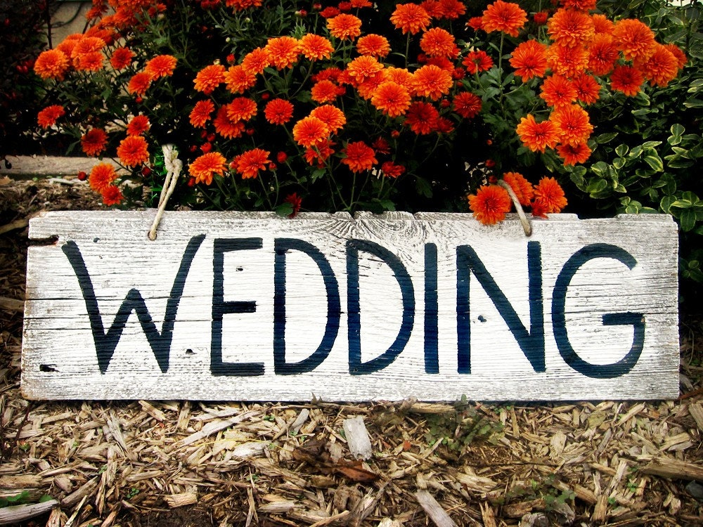 Etsy Wedding Shandrus Creations Custom Recycled Wood Wedding Signs More