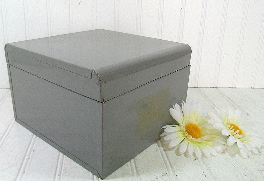 retro heavy duty large metal file box vintage by divineorders