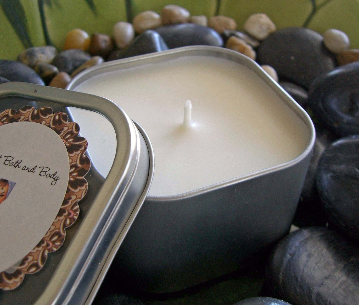 Mountain Fresh 8 oz. Soy Candle in Square Travel Tin