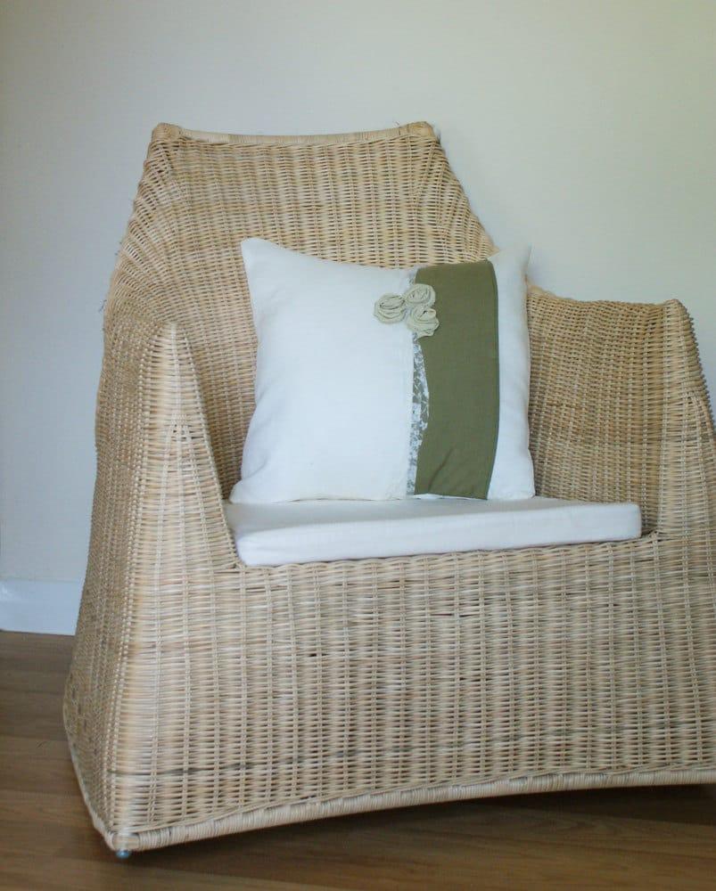 Сливки и оливковое Зеленый Розовый бутон и крышкой подушки Кружева