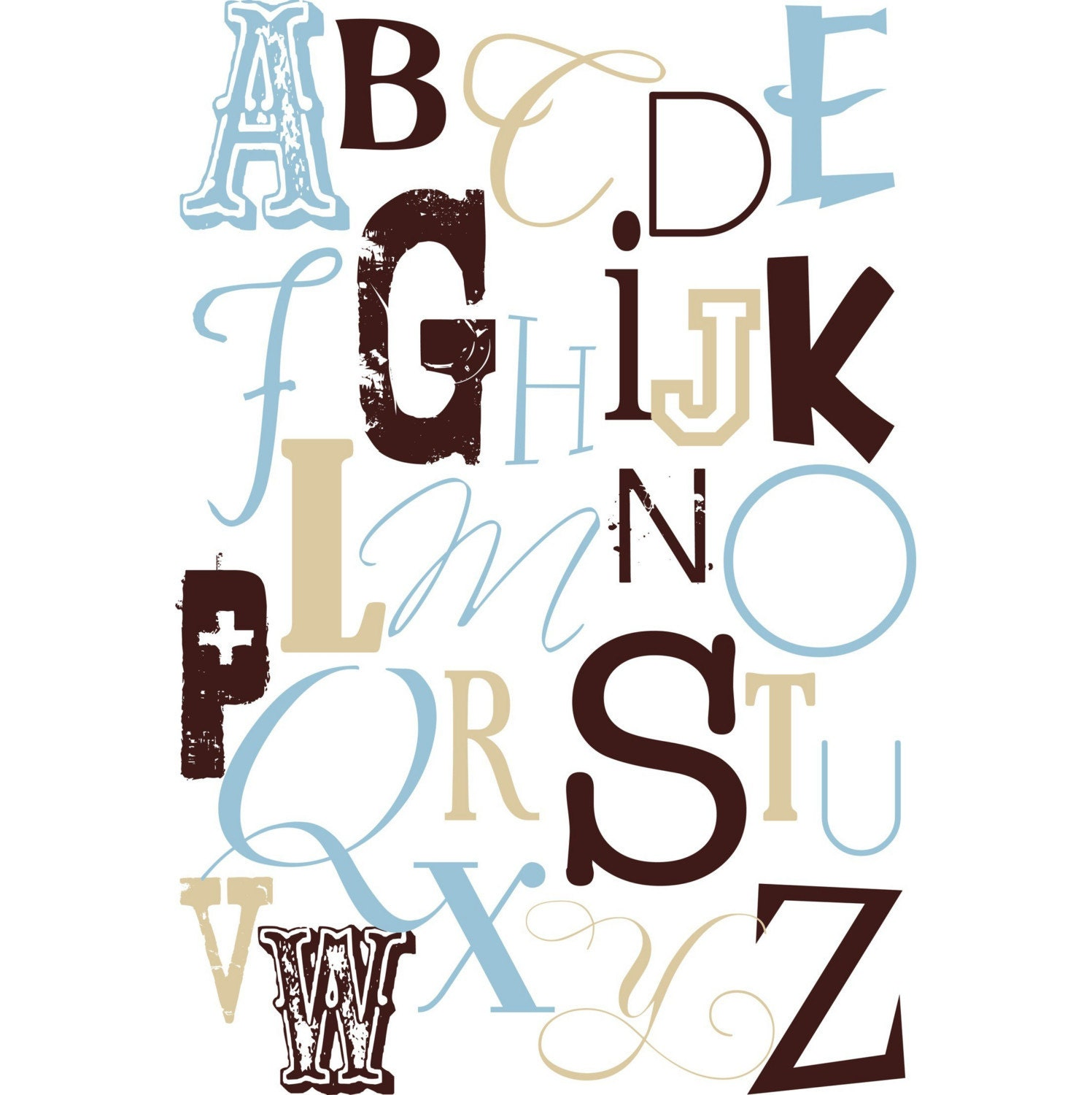 Blue nursery rocking chair - Etsy Find Alphabet Posters Type Only 171 Buymodernbaby Com