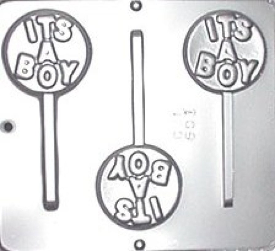it 39 s a boy lollipop chocolate candy mold baby by candymoldsnmore