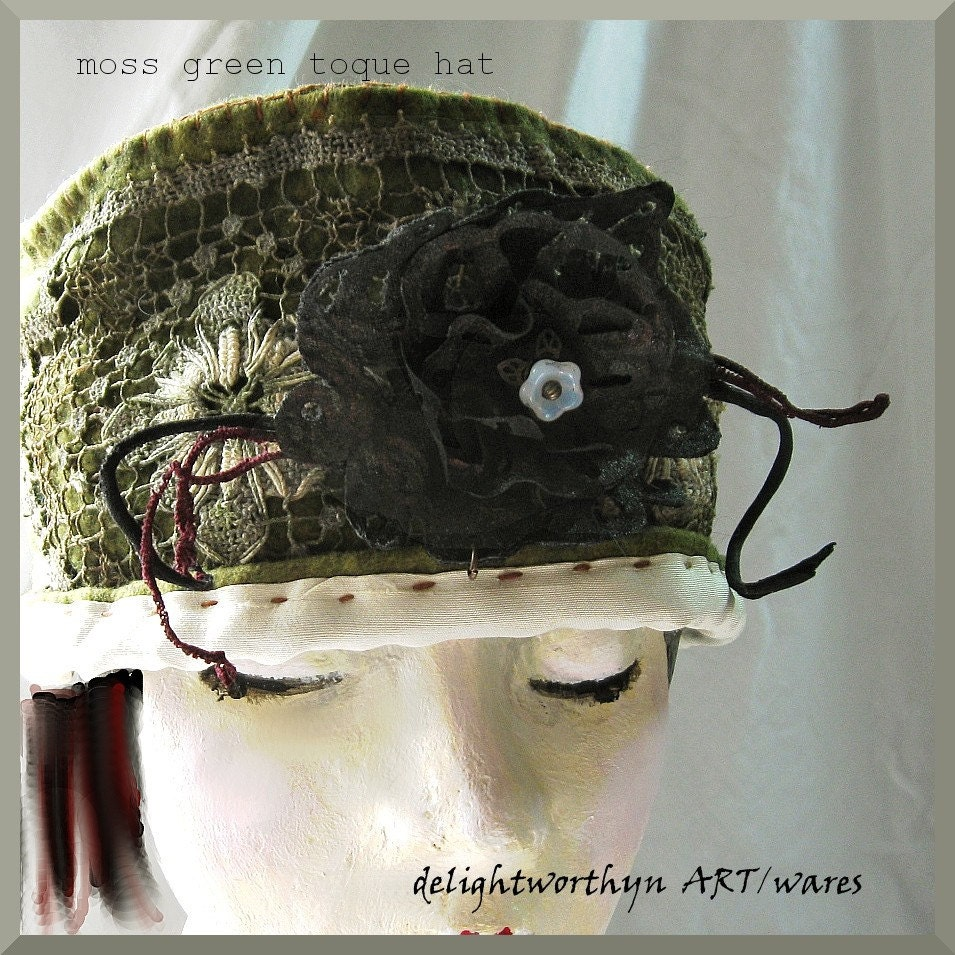 Moss Green Toque Hat