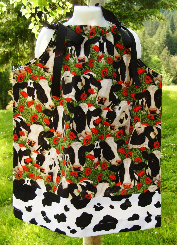 Country Farm Cows Pillowcase Dress 2T 3T 4 5 6 Mooooooooo