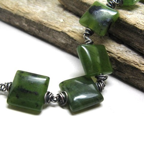 Jade bracelet Tarragon by mcrdesigns on Etsy