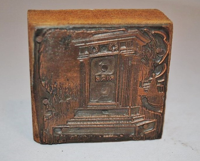... Catalog Design Vintage Letterpress Copperface Block Gothic Design