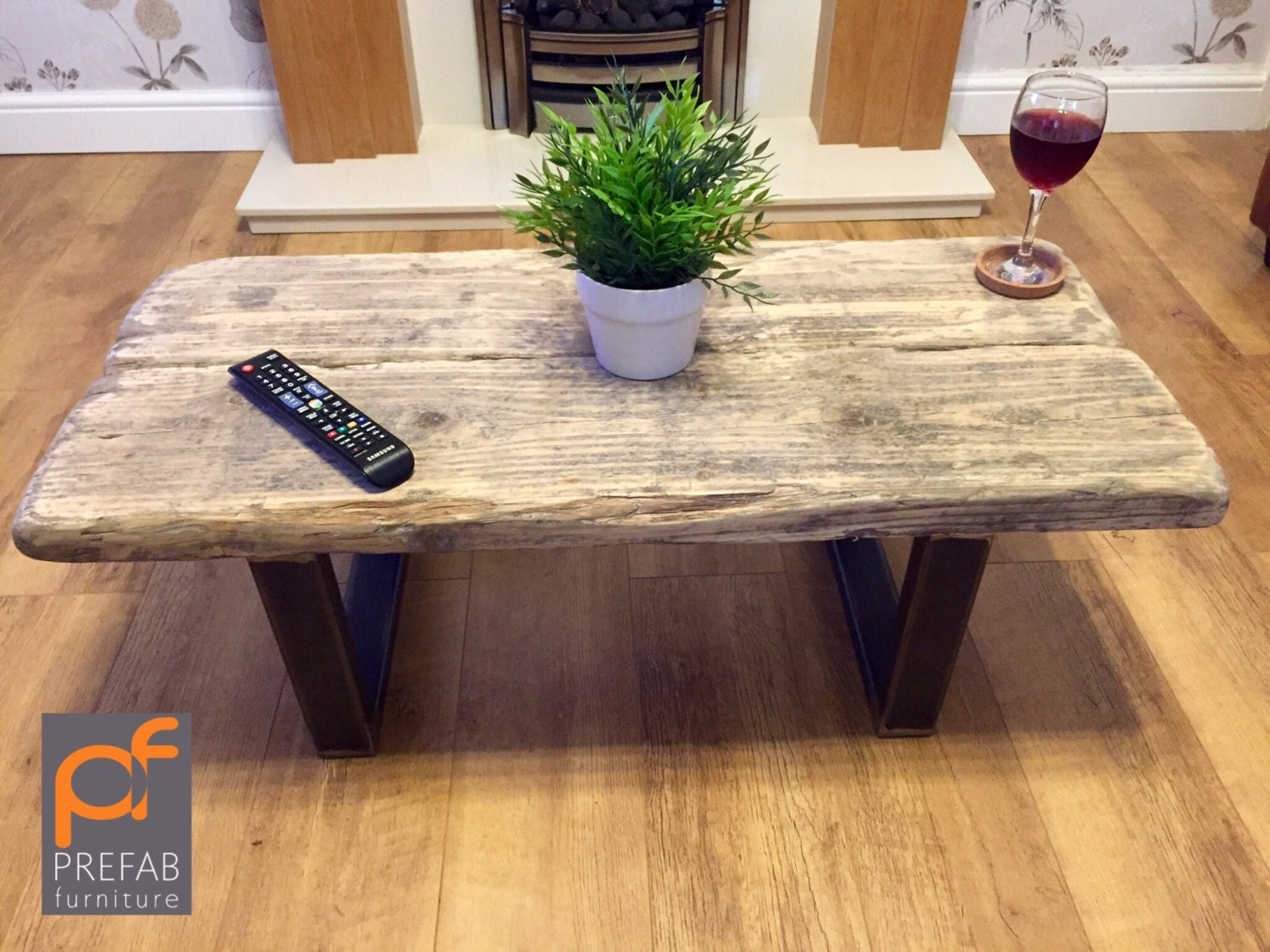 Rustic Industrial reclaimed Coffee Table  TV Stand.