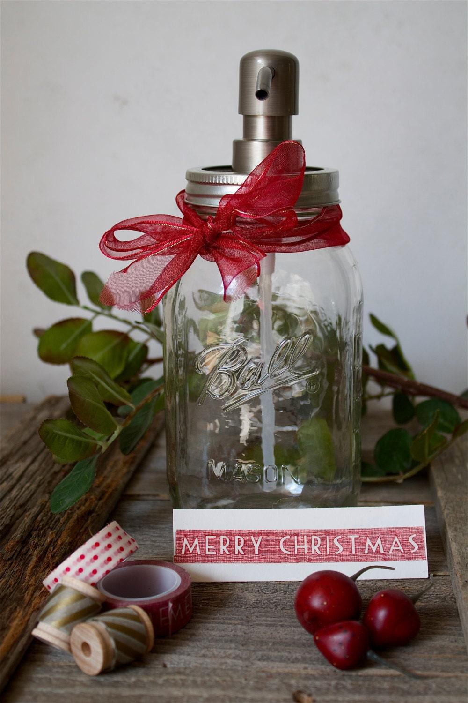 Merry Christmas Gift Rustic Modern Bathroom Mason Jar