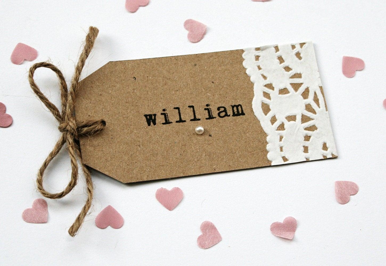 Manilla tags wedding