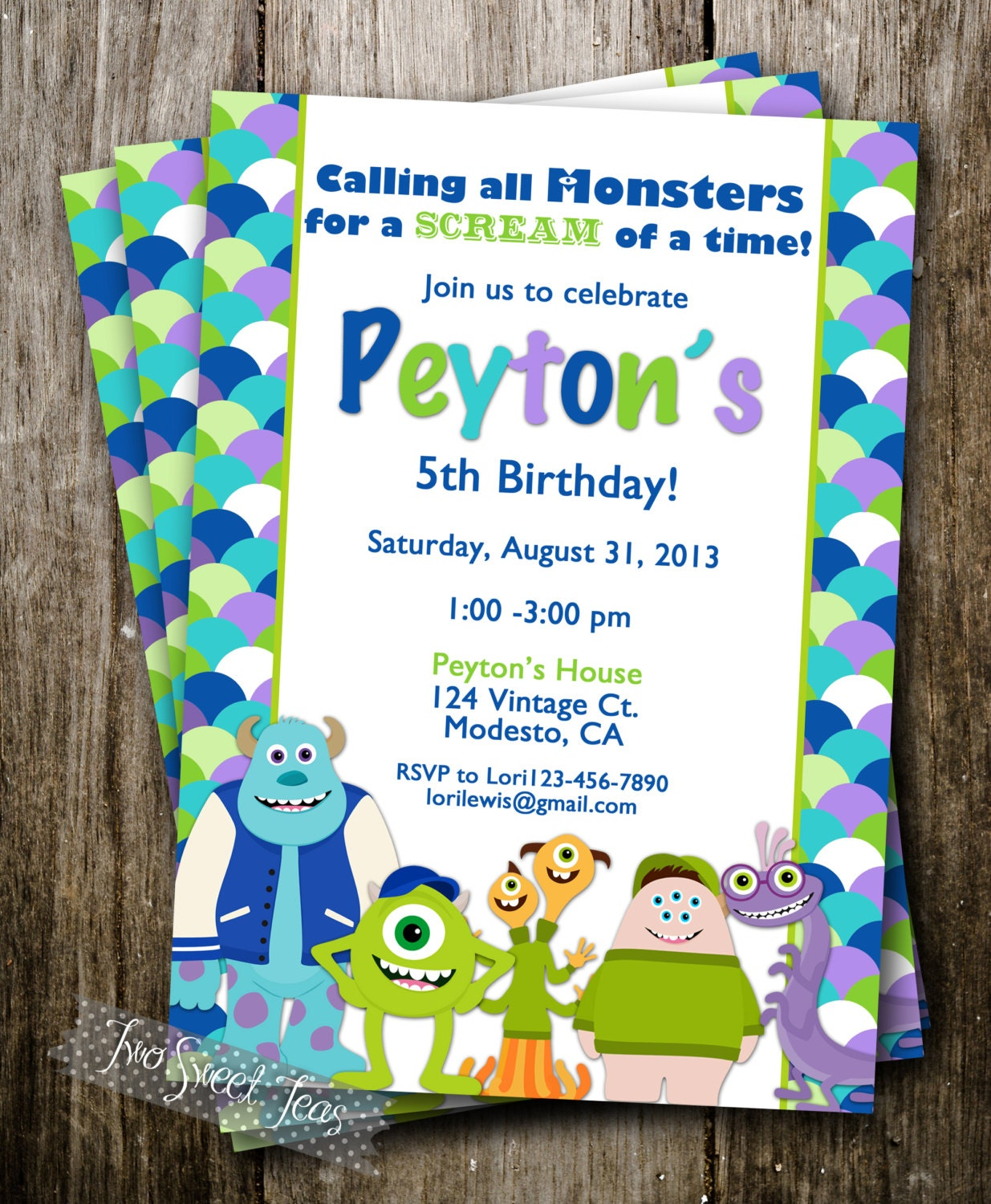 Monsters Inc Invitation with great invitation sample