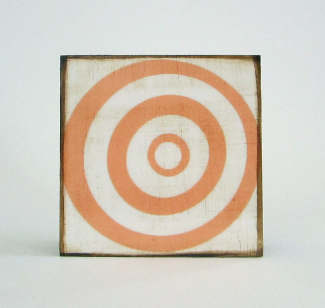 Modern wall decor l bullseye modern 5x5 art block by for Modern house 5x5