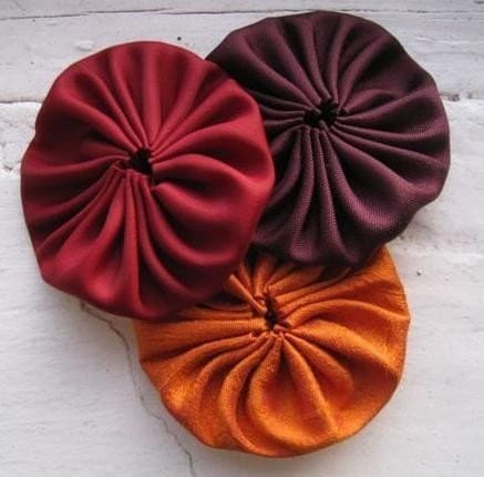 Appliques ORANGE BURGUNDY EGGPLANT by ILoveYoYo