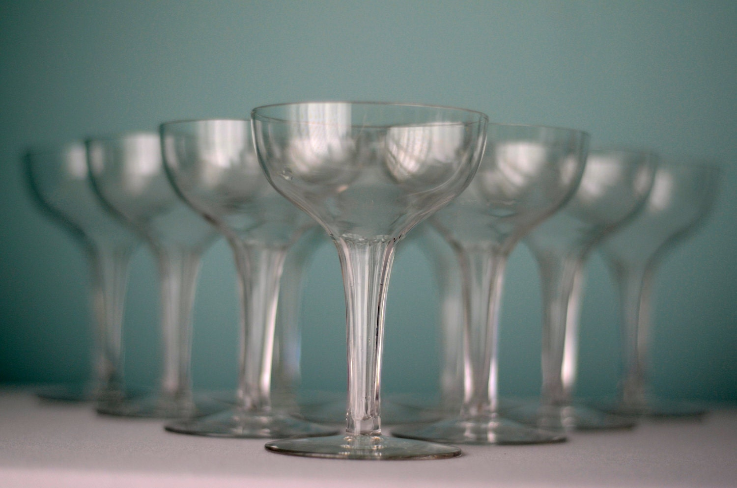 Vintage hollow stem champagne glass set of by boundforgloryresale - Hollow stem champagne glasses ...