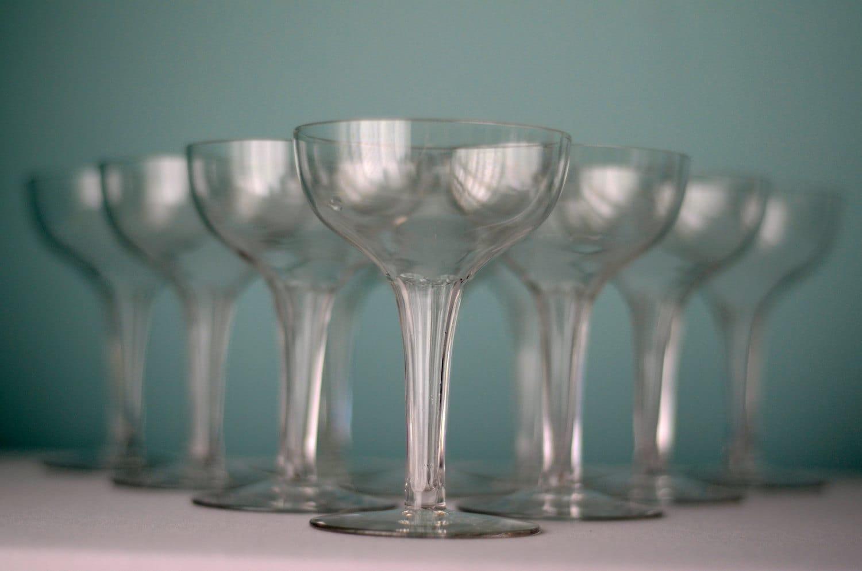Vintage hollow stem champagne glass set of by boundforgloryresale - Champagne flutes hollow stem ...
