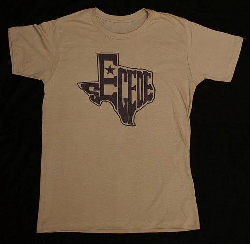 Sand Texas Secede T-Shirt