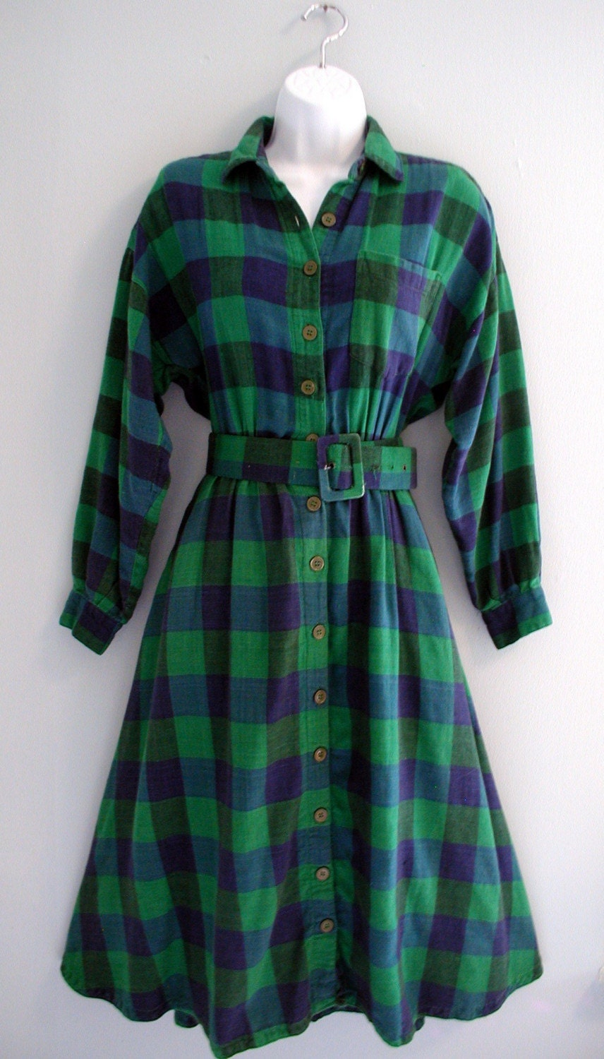 Lumberjack Ball Plaid Flannel Dress