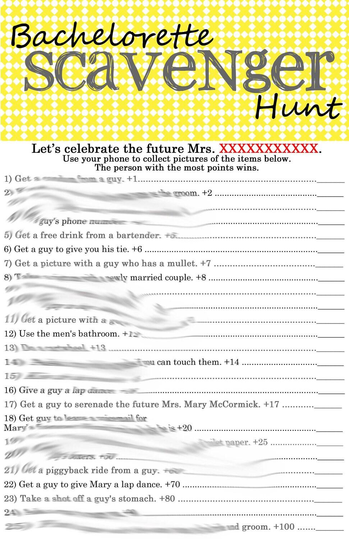 Declarative image for bachelorette scavenger hunt printable