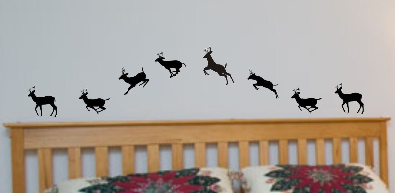 Running Deer Vinyl Wall Art Decals