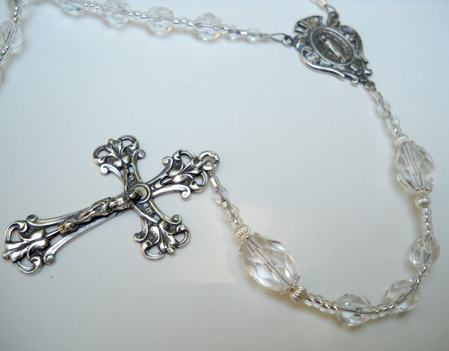Crystal and Sterling Silver Rosary