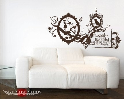 Like a Bird - Vinyl Text Wall Words Decals Stickers Art Graphics Collage