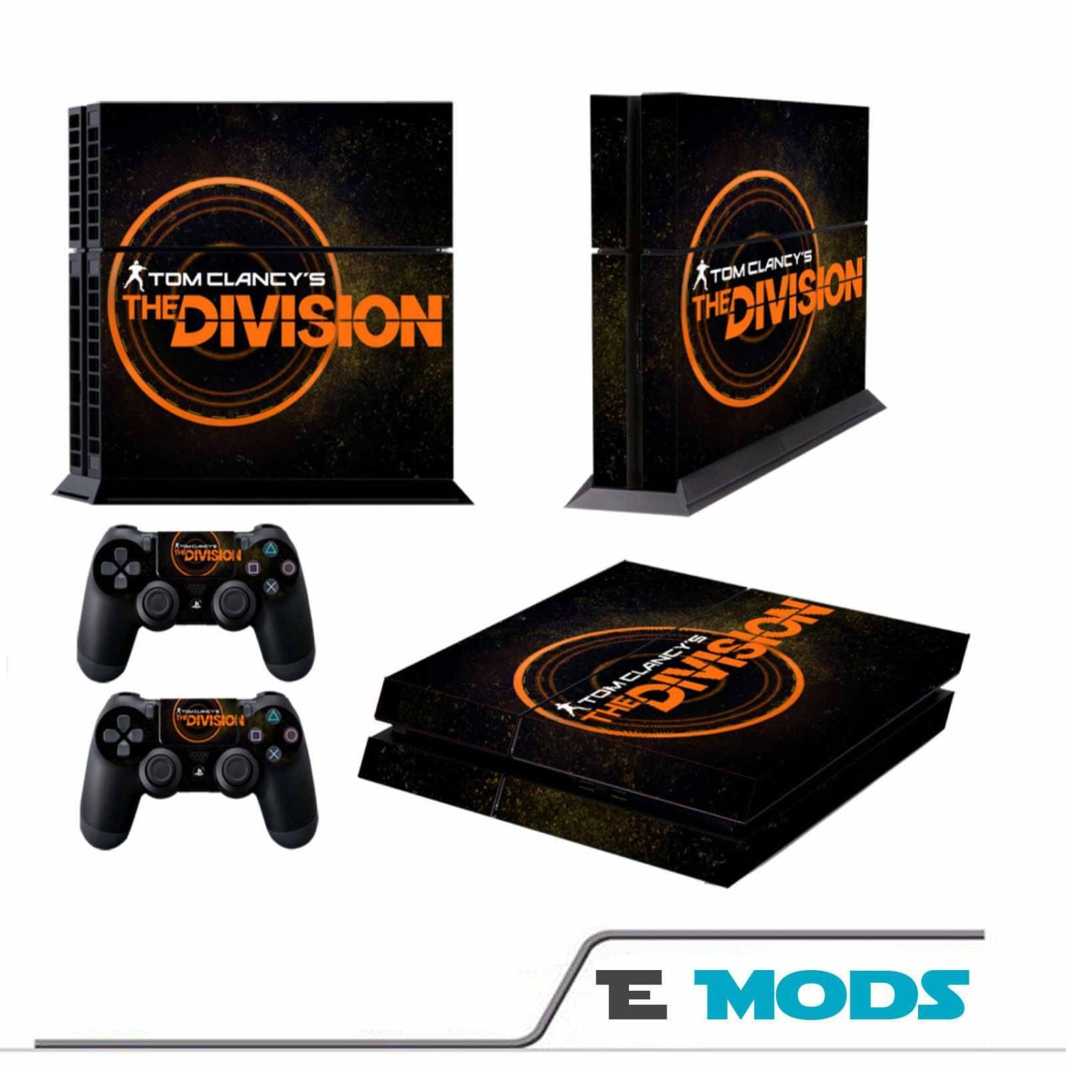 The Division Playstation 4 PS4 Console Skin Vinyl Graphic decal  2 controller stickers