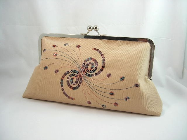 Caleidoscope  Corduroy XL Clutch Purse with by mabellecherie from etsy.com