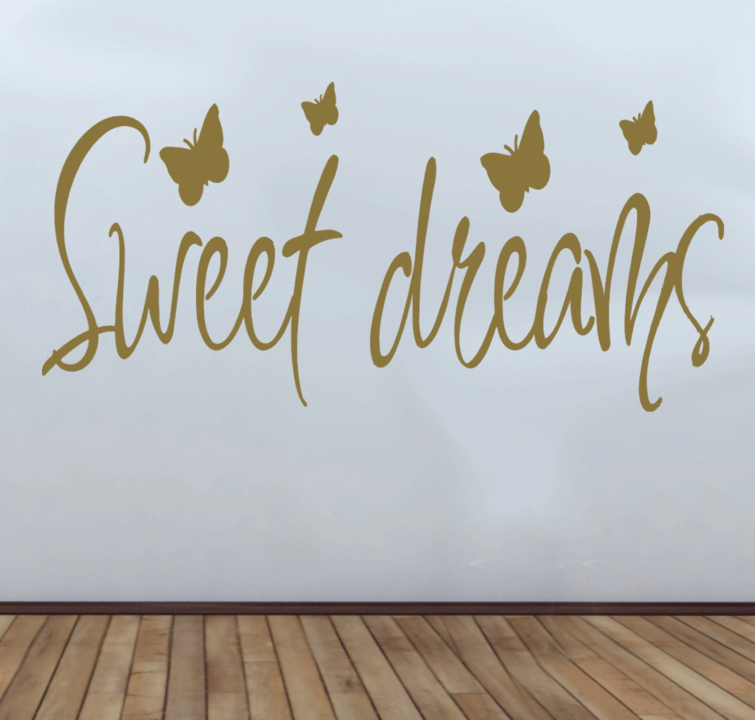 Sweet Dreams And Butterflys Bedroom Quote Wall Art Vinyl Decal Sticker