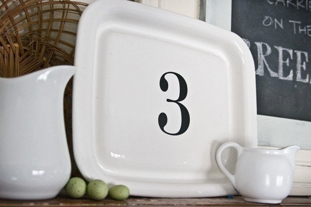 Custom Letter Number Decal as seen on The Lettered Cottage SET OF SEVEN