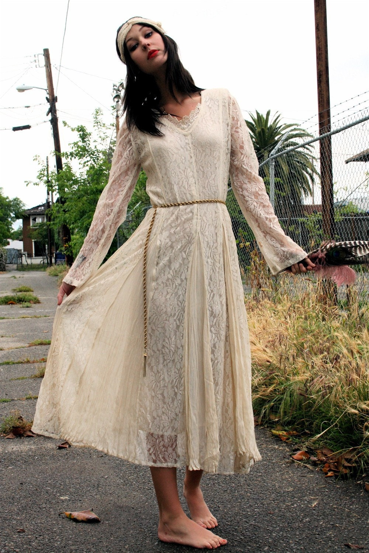 Earthy Bohemian Wedding Dress
