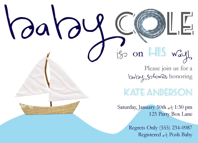 Seaside Baby Shower Invitation (20 printed invites)
