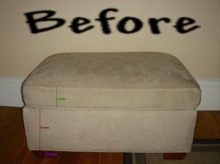 Slip Covers Custom Ottoman Replace or Remake by HandmadeByStella