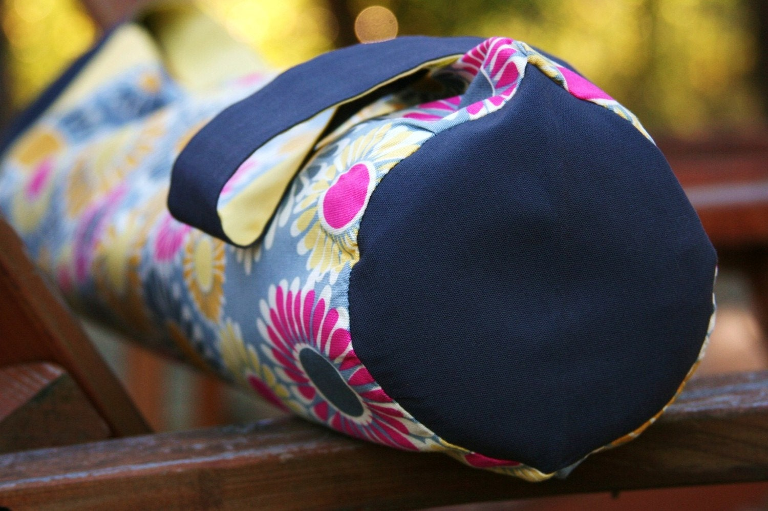 ORGANIC Yoga Mat Bag in Daisies in Summer - READY TO SHIP