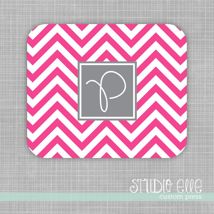 Chevron Monogram Mousepad