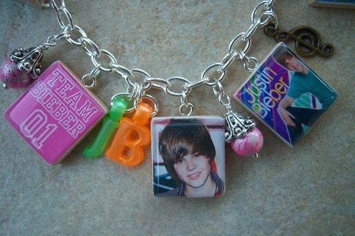bieber fever bracelets. Justin Bieber Charm Bracelet