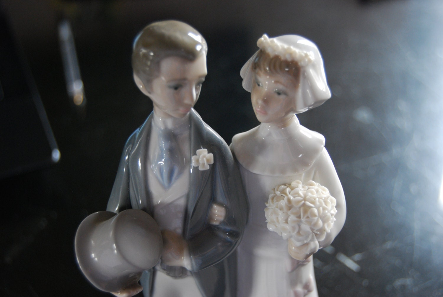 Items Similar To Lladro Wedding Couple Cake Topper Figurine 4808 On Etsy