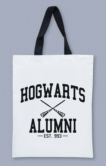 Hogwarts Alumni Bag Harry Potter Bag Movie Bag Text Bag Big Bag Canvas Tote Bag Diaper Bag Shopping Bag Cream Bag