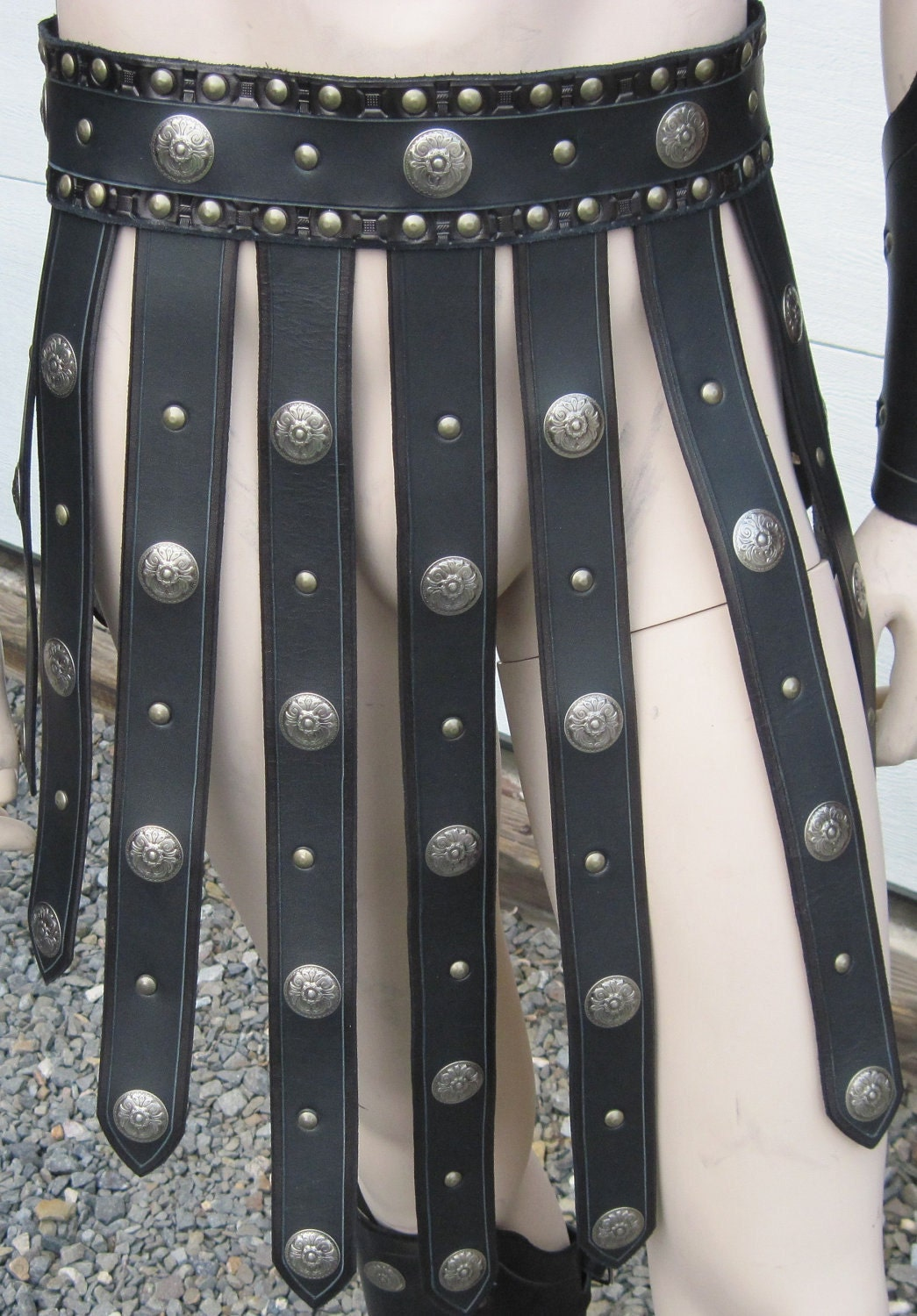 gladiator leather armor war skirt by