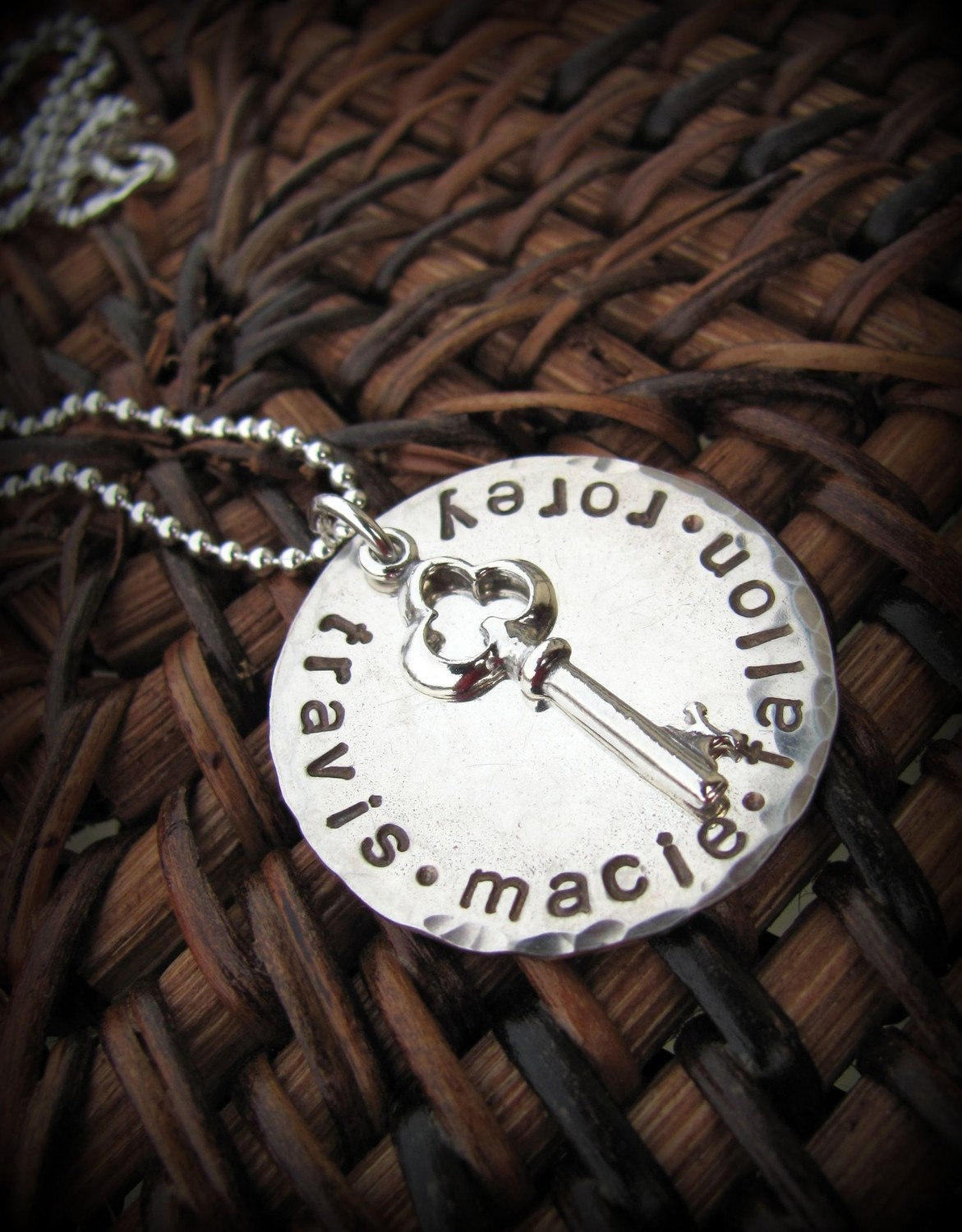 Key To My Heart Hand Stamped Sterling Personlized Necklace