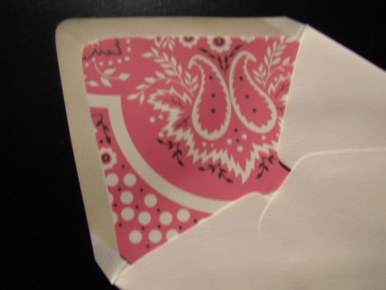 Handmade Upcycled Stationery Set- Valentines Bandana Hand Lined Envelopes Red Pink Fucshia