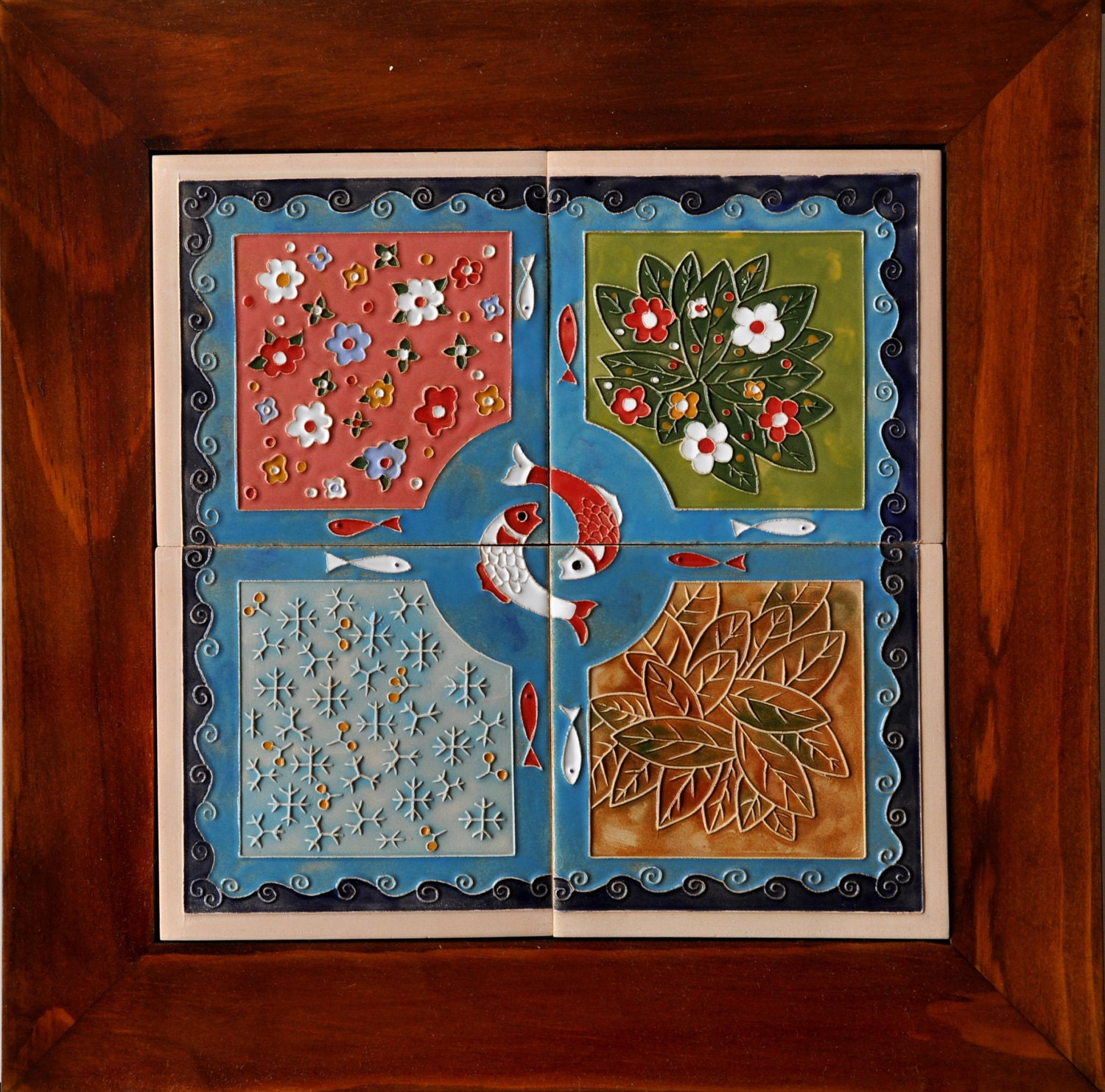 Four Season's Signs Wall hanging Tile