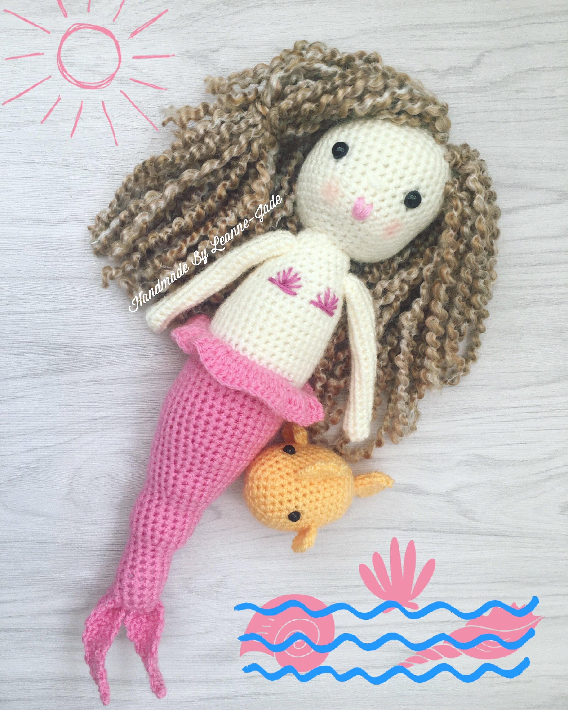 READY TO SHIP Mermaid handmade crochet mermaid handmade amigurumi gift stuffed plushie toy gifts for girls