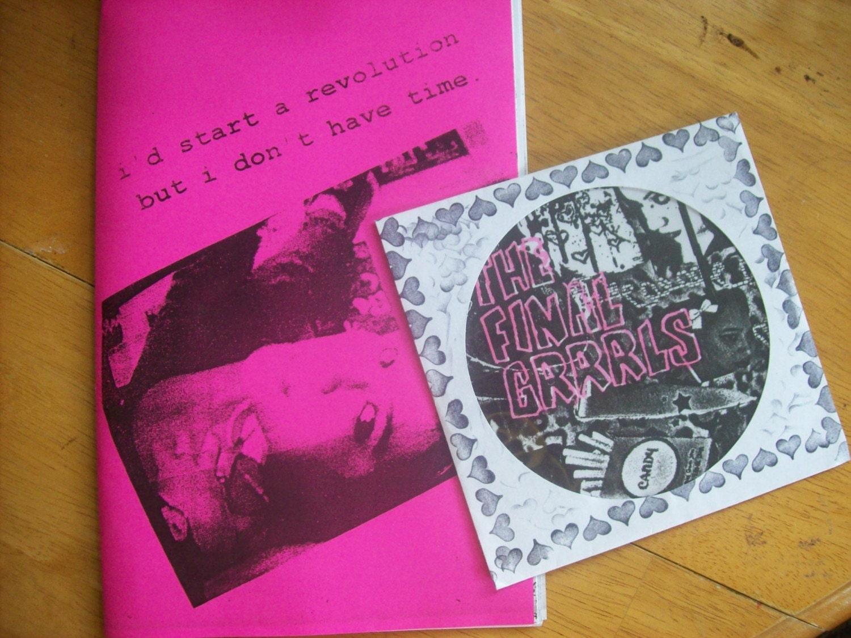The Final Grrrls CD and The Riot Grrrl split ZINE