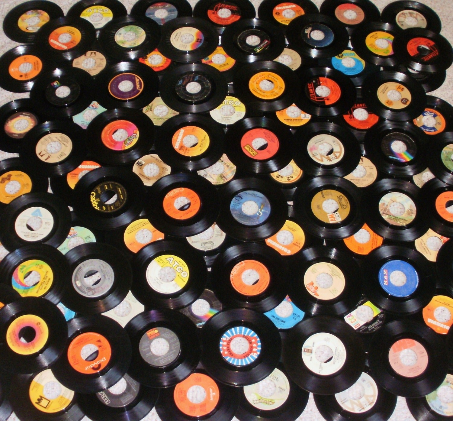 90 vinyl 45 rpm records for decorating or by treasuresyouneed