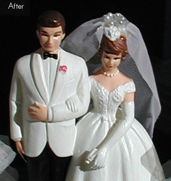 Vintage Upcycled Wilton Wedding Cake Topper From Jewelchick