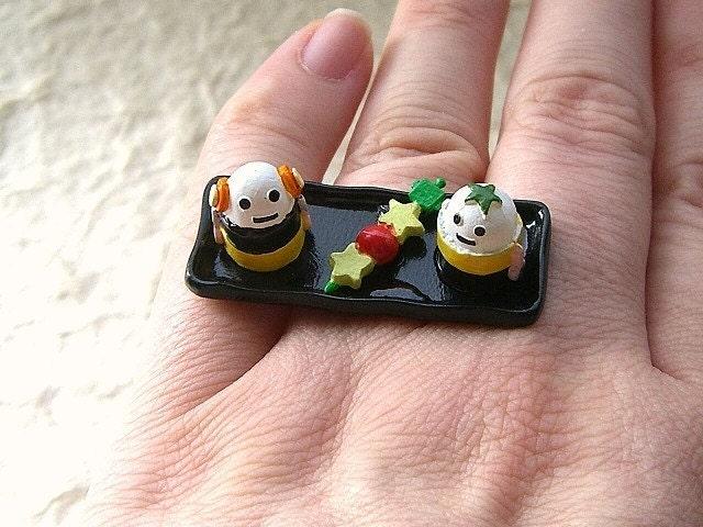 Kawaii Cute Japanese Ring - Cute Robots