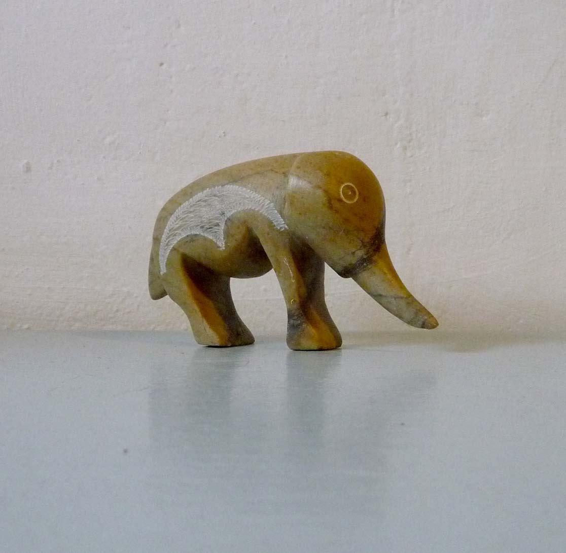 Vintage Soapstone Elephant