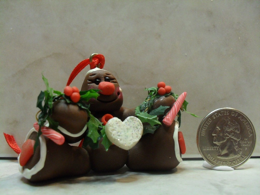 CDHM Artisan MP Manso-Bonafice of MPM Originals, 1:12 scale Gingerbread Man Ornament in 1:12 scale