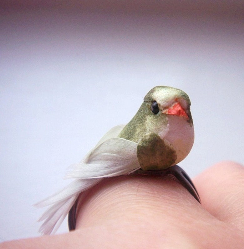 My Little Bird  One Of A Kind Adjustable Statement Ring by MGMart from etsy.com