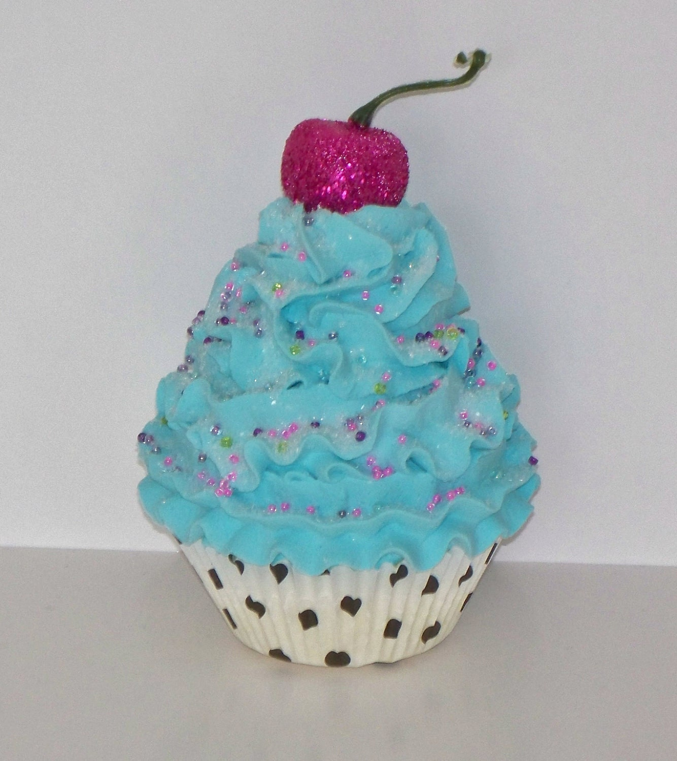 Dark Pink Kitchen Accessories: Turquoise Fake Cupcake With Hot Pink By FakeCupcakeCreations